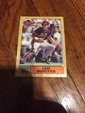 1987 Topps Baseball Card #295 Len Dykstra METS R15605 E1