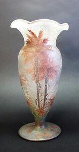 "Fine 11"" Signed HANDEL TEROMA Art Glass Vase  Rare Form  c. 1920  MINT  antique"