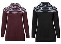 Sheego Damen Rollkragenpullover Pullover Pulli Sweatshirt Sweater Schwarz NEU