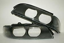 BMW 540i 528i E39 5 Series Headlight Lens Smoked Corner 97-00 PAIR