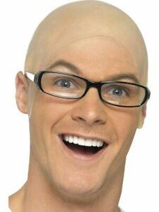 Latex Thick Fake Bald Head Skinhead Wig Cap Clown Mens Ladies Fancy Dress Hat