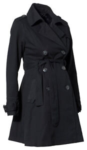 Black Maternity Trenchcoat, maternity rain coat - all sizes
