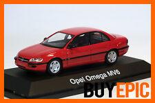 Schuco Opel Omega B Limousine Vorfacelift, MV6, Magmarot, red, Modellauto 1:43