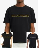 BLACK LIVES MATTER ...MELANINAIRE.. ANTI-RACISM mens, ladies fitted kids T-shirt
