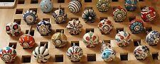 24 x Möbelknöpf Knoepf Shabby Schubladen Knöpfe Moebel griffe Indien Keramik