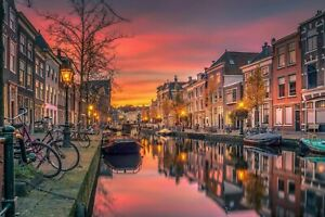 Amsterdam Holland Canvas Wall Art Picture Print 24x18
