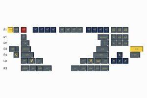 NEW DROP X DATA SA Danger Zone Novelites Modifiers Keycaps 56 Keys Gray Pilot