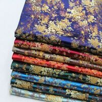 Satin Floral Brocade Fabric Damask DIY Chinese Cheongsam Dress Costume Craft Sew