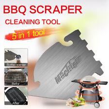 BBQ Scraper Cleaning Tool 5 in 1 Stainless Steel bottle opener Hook Family Favor