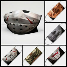 Horror Movie Characters Face Mask Jason Voorhees, Freddy, IT, Michael Myers