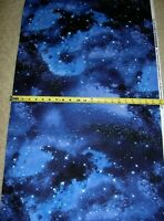 Space Night Stars Galaxy Multi C9924 Timeless Treasures Durable Cotton Fabric