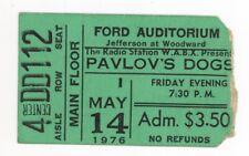 Pavlovs Dog 5/14/76 Detroit MI Ford Auditorium Ticket Stub! Thin Lizzy OPENED!