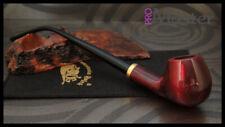 Mr. Brog GENUINE WOODEN SMOKING PIPE  CHURCHWARDEN no 14 Red  LONG PEAR + BOX