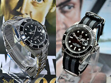 Quartz Watch Sub Diver Mariner Bond Style Watch Rotating Bezel