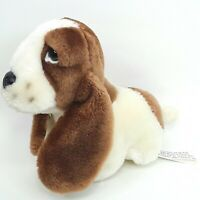Hush Puppies Bassett Hound dog plush soft toy puppy Sitting Small Vintage