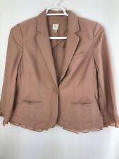 LC Lauren Conrad Womens /juniors One Button Blazer Blush Pink Sizes 6/10/12