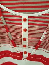 MARCO POLO Red Stripe Stretch Knit Top Size S
