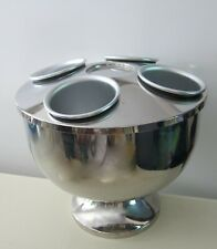 4 BOTTLES STAINLESS STEEL WINE CHAMPAGNE COOLER