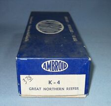 6237_AMBRAOID HO SCALE GREAT NORTHERN REEFER CRAFTSMAN KIT NOS