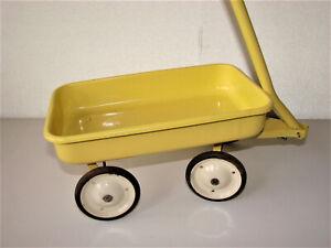 Ancien Jouet à tracter remorque chariot en tole émaillée - Toys