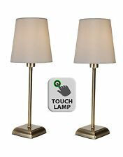 Set of 2 Vintage Style Antique Brass Touch Dimmer Table Lamp Bedside Light Lamps