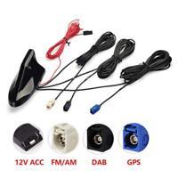 DAB/DAB+ Fakra Adapter AM FM GPS Autoradio Signal Amplifier KFZ Shark Antenne