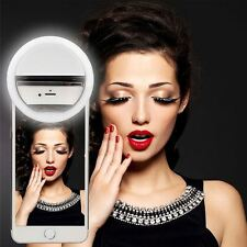 Beauty LED Ring Selfie Flash Fill Light Clip Camera For Phone iPhone Samsung HTC