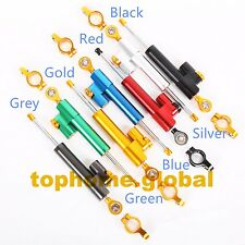 Universal Adjustable CNC Steering Damper Stabilizer Safety Control 7color
