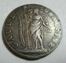More details for  1801 silver 5 francs  an.10 gaule subalpine republic piedmont italian states *