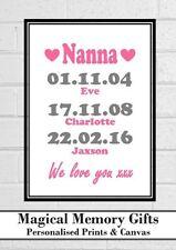 Christmas gift nanna mum mummy grandma our story love nan personalised print