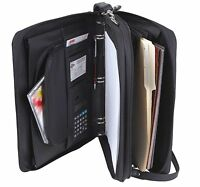 Leatherette 3-RING BINDER FOLDER PORTFOLIO ORGANIZER PLANNER w/ BRIEFCASE HANDLE