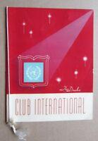1957 The Drake Hotel Club International Restaurant Menu, Chicago IL