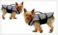 NEW Sharper Image Pet Life Jacket -SMALL (12-20 lbs) Gray Color - FREE SHIPPING