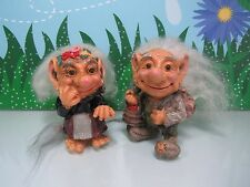 "Grandpa And Grandma - 4"" Nord Suvenir Swedish Forest Troll - Rare"