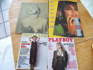 Madonna 4 items: ProgramTour1987 + Playboy1985 + Penthouse1987 + PosterBook