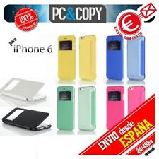 FUNDA LIBRO TAPA DURA VENTANA LLAMADAS IPHONE 6 6S FLIP COVER BOOK CASE COLORES