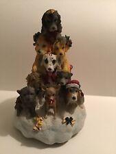 "San Francisco Music Box Co. Christmas Dog Tree ""We Wish You a Merry�"