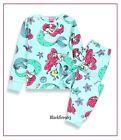Baby Girls Disney Mermaid Fleece Pyjama Set Ariel Character Nightwear 1-3 Yr NEW