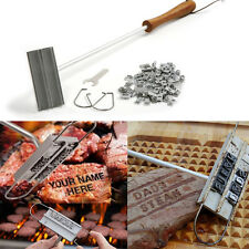 DIY Steak Meat Branding Iron Signature Name Marking Stamp BBQ Changeable Letters