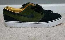 Mens Nike Zoom Stefan Janoski Skateboard Shoe black, black green orange Size 9