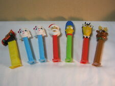 Pez candy Dispenser Lot of 7 Marge Simpson Santa Claus Sheep & More  T*