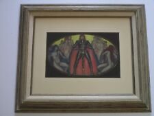 ROLF STOLL PAINTING ANTIQUE ART DECO NOUVEAU ICON KNIGHT SWORD NUDE NYMPHS WPA