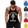Golds Gym Vest Mens Muscle Joe Tank Top Fitness Stringer Bodybuilding Muscle Tee