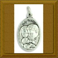 """⚜️ Catholic Medal ⚜️ HOLY FAMILY 1"""" BABY JESUS Mary Joseph HOLY TRINITY"""