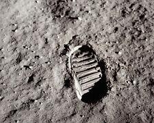 Apollo 11 Buzz Aldrin Fußabdruck Mond 8x10 Silber Halogen Fotodruck