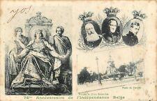 postkaart Belgische Koningshuis, 75e ANNIVERSAIRE DE L'INDEPENDANCE BELGE(pk413)