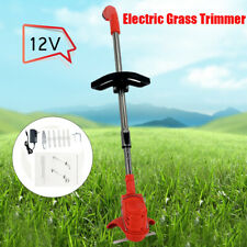 Electric Lawn Mower Li-ion Cordless Grass Trimmer 12V 6Blades w/Battery&Charger