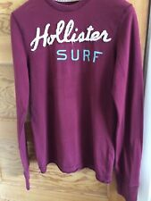 Mens Long Sleeve Burgandy Hollister Top Small