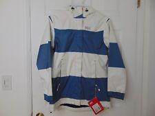 Helly Hansen Womens Bellevue Coat Marine Blue Wide Stripe Size XS/TP