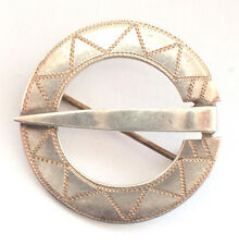 Stunning Vintage 925 Fine Sterling Silver Brooch Pin Scottish Retro Vintage Kilt